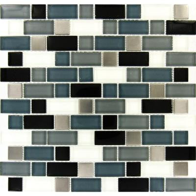 Crystal Cove 12 in. x 12 in. Glass Blend Mesh-Mounted Mosaic Tile