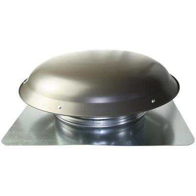 Cool Attic 1400 CFM Grey Weathered Galvanized Steel Power Attic Roof Ventilator