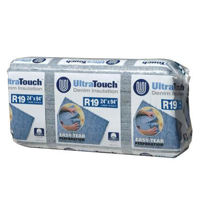 24.25 in. x 94 in. R19 Denim Insulation (8-Bags)