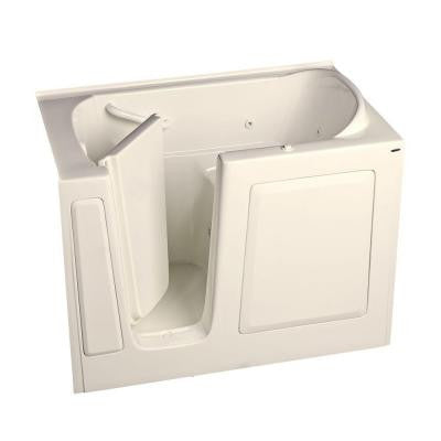 Gelcoat 4.25 ft. Walk-In Whirlpool Tub with Left Quick Drain in Linen