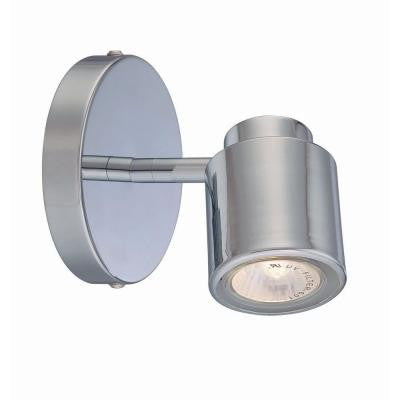Designer Collection 1-Light 5.5 in. Chrome Track Head with Metal Shade