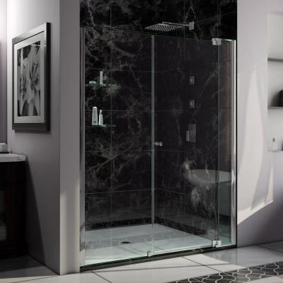 Allure 58 in. to 59 in. x 73 in. Semi-Framed Pivot Shower Door in Chrome