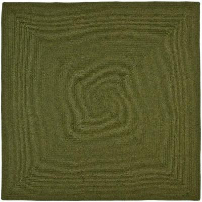 Braided Green 6 ft. x 6 ft. Square Area Rug