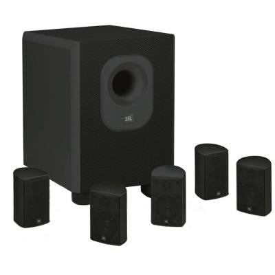 Architectural Edition Powered by JBL 5.1-Channel Home Theatre System in Black with Wall Brackets