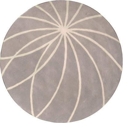 Aisha Bay Leaf 4 ft. Round Area Rug