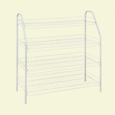 12-Pair 4-Tier Ventilated Wire Shoe Rack