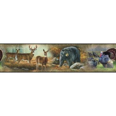 9.25 in. Wildlife Medley Peel and Stick Border
