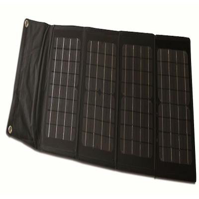 40-Watt Folding Monocrystalline Solar Panel for 12-Volt Charging
