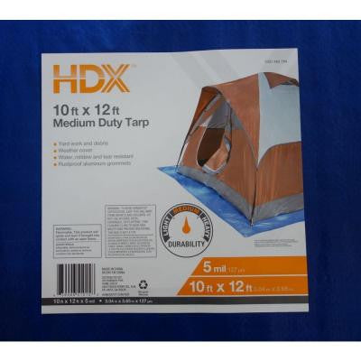 10 ft. x 12 ft. Blue Medium Duty General Purpose Tarp