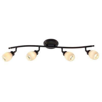4-Light Bronze Directional Ceiling or Wall Track Lighting Fixture
