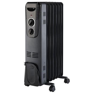 1500-Watt Electric Oil-Filled Radiant Portable Heater - Black