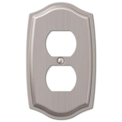 Sonoma 1 Duplex Outlet Plate - Nickel