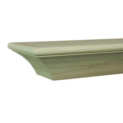 Contemporary 5 ft. Paint Grade Cap-Shelf Mantel