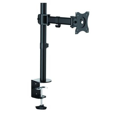 Single Monitor Desk Mount Arm for 13 in. - 27 in. Screens, Holds 1 Monitor, 45 Degree Tilt, 17.6 lb. Capacity