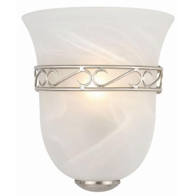 Marlowe 1-Light Satin Nickel Tulip Shape Sconce