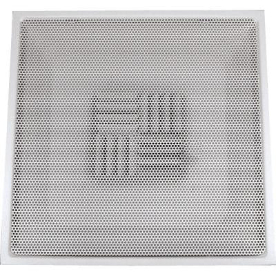 24 in. x 24 in. Drop Ceiling T-Bar Perforated Face Air Vent Register, White with 14 in. Collar