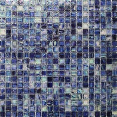 Breeze Blueberry 12-3/4 in. x 12-3/4 in. x 6 mm Glass Mosaic Tile