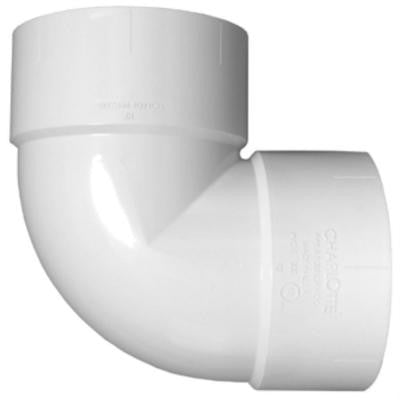 12 in. PVC DWV Vent 90-Degree Hub x Hub Elbow