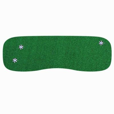 3 ft. x 9 ft. Indoor Outdoor Synthetic Turf 3-Hole Practice Putting Golf Green