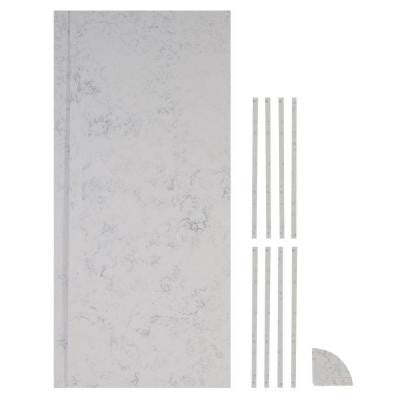 36 in. x 36 in. x 84 in. 11-piece Retro Fit Over Existing Shower Surround in Worthington White