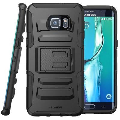 Galaxy S6 Edge Plus Prime Series Holster Case with Kickstand - Black