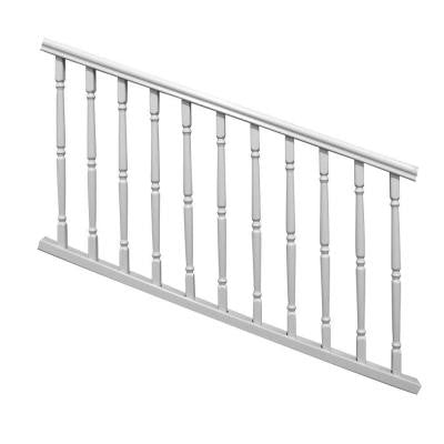 6 ft. x 36 in. White Williamsburg Stair Rail Kit