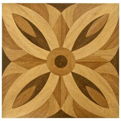 Florence Matte Brown 17 in. x 17 in. Ceramic Floor and Wall Tile (12.21 sq. ft. / case)