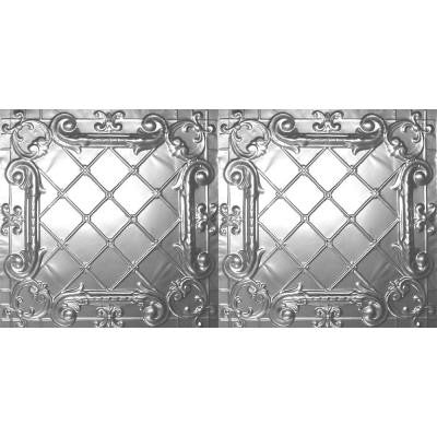 2 ft. x 4 ft. Nail-up/Direct Application Tin Ceiling Tile in Brite Chrome (24 sq. ft. / case)