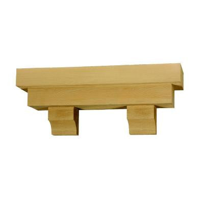 56 in. x 14 in. x 10 in. Square Pot Shelf with Wood Grain Texture Block
