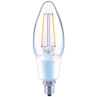 40W Equivalent Soft White B11 E12 Filament Dimmable LED Light Bulb