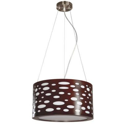 Mokala 2-Light Brown Drum Pendant