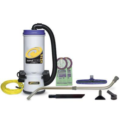 Super CoachVac HEPA Backpack Vacuum with 14 in. Multi-Surface Floor Tool and Telescoping Wand