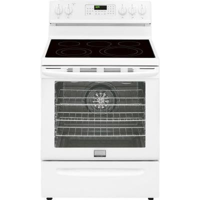 Gallery 30 in. 5.7 cu. ft. Electric Range with Convection Self-Cleaning Oven in White