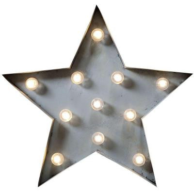 14 in. H x 15 in. W Marquee Light-Up Star