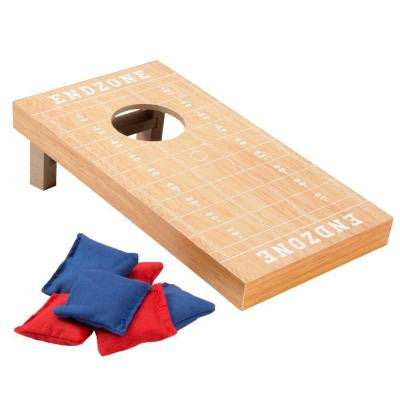 10.5 in. Football Field Theme Tabletop Cornhole Game