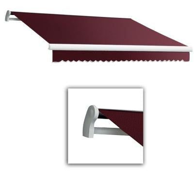 10 ft. Maui-AT Model Right Motor Retractable Awning (10 ft. W x 8 ft. D) in Burgundy