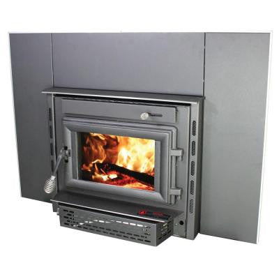 Colonial 1,800 sq. ft. Wood-Burning Stove Fireplace Insert with Blower
