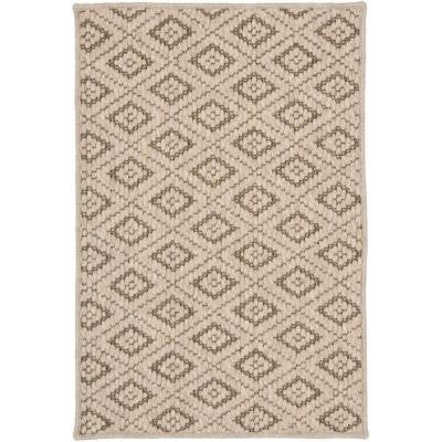 Diamond Taupe 3 ft. x 5 ft. Area Rug