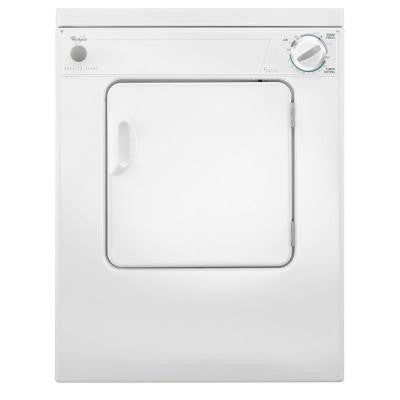 3.4 cu. ft. Electric Dryer in White