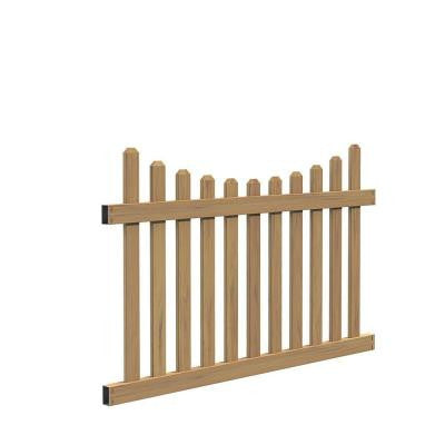 Seneca Scallop 4 ft. x 6 ft. Cypress Vinyl Fence Panel Kit