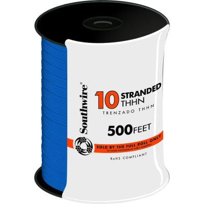 500 ft. 10 Stranded THHN Wire - Blue