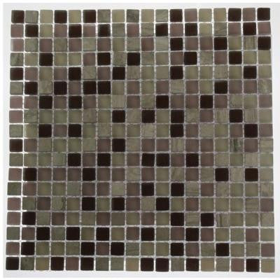 Rocky Mountain Blend 12 in. x 12 in. x 8 mm Glass Mosaic Floor and Wall Tile