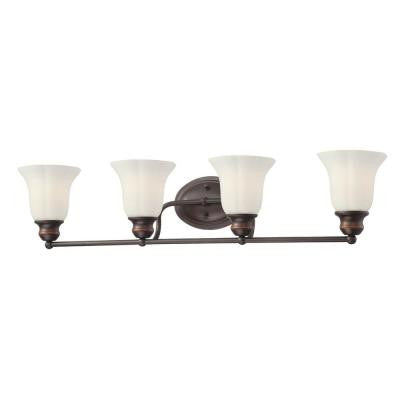 Fountaine Collection 4-Light Oil Rubbed Bronze Bath Bar Light