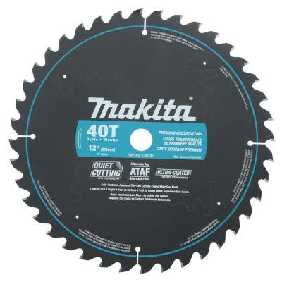 12 in. x 1 in. Ultra-Coated 40-Teeth Miter Saw Blade