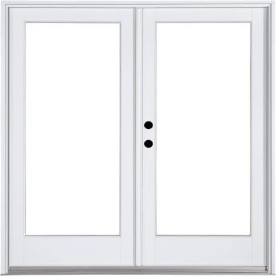 59-1/4 in. x 79-1/2 in. Composite White Right-Hand Inswing Hinged Patio Door