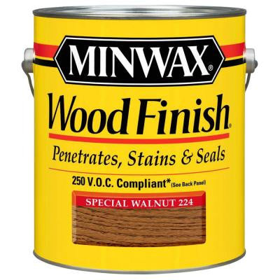 1 gal. Special Walnut Wood Finish 250 VOC Oil-Based Interior Stain