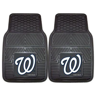Washington Nationals 18 in. x 27 in. 2-Piece Heavy Duty Vinyl Car Mat