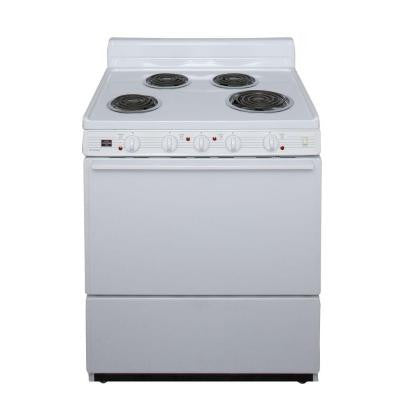30 in. 3.91 cu. ft. Freestanding Electric Range in White
