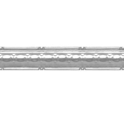 2-1/2 in. x 4 ft. Brite Chrome Nail-up/Direct Application Tin Ceiling Cornice (6-Pack)