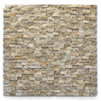 Modern 12 in. x 12 in. Dada Marble Mesh-Mounted Mosaic Tile (10 sq. ft. / case)